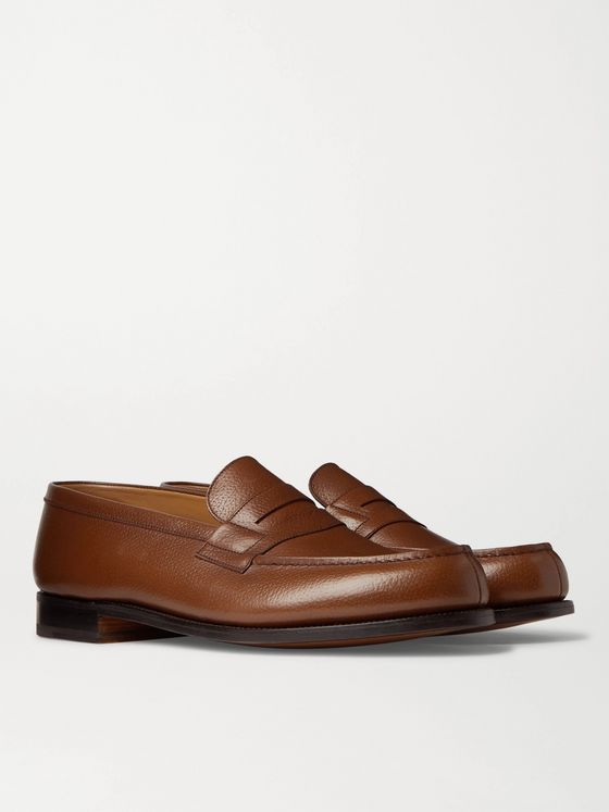 J.M. Weston 180 Moccasin Full-Grain Leather Loafers