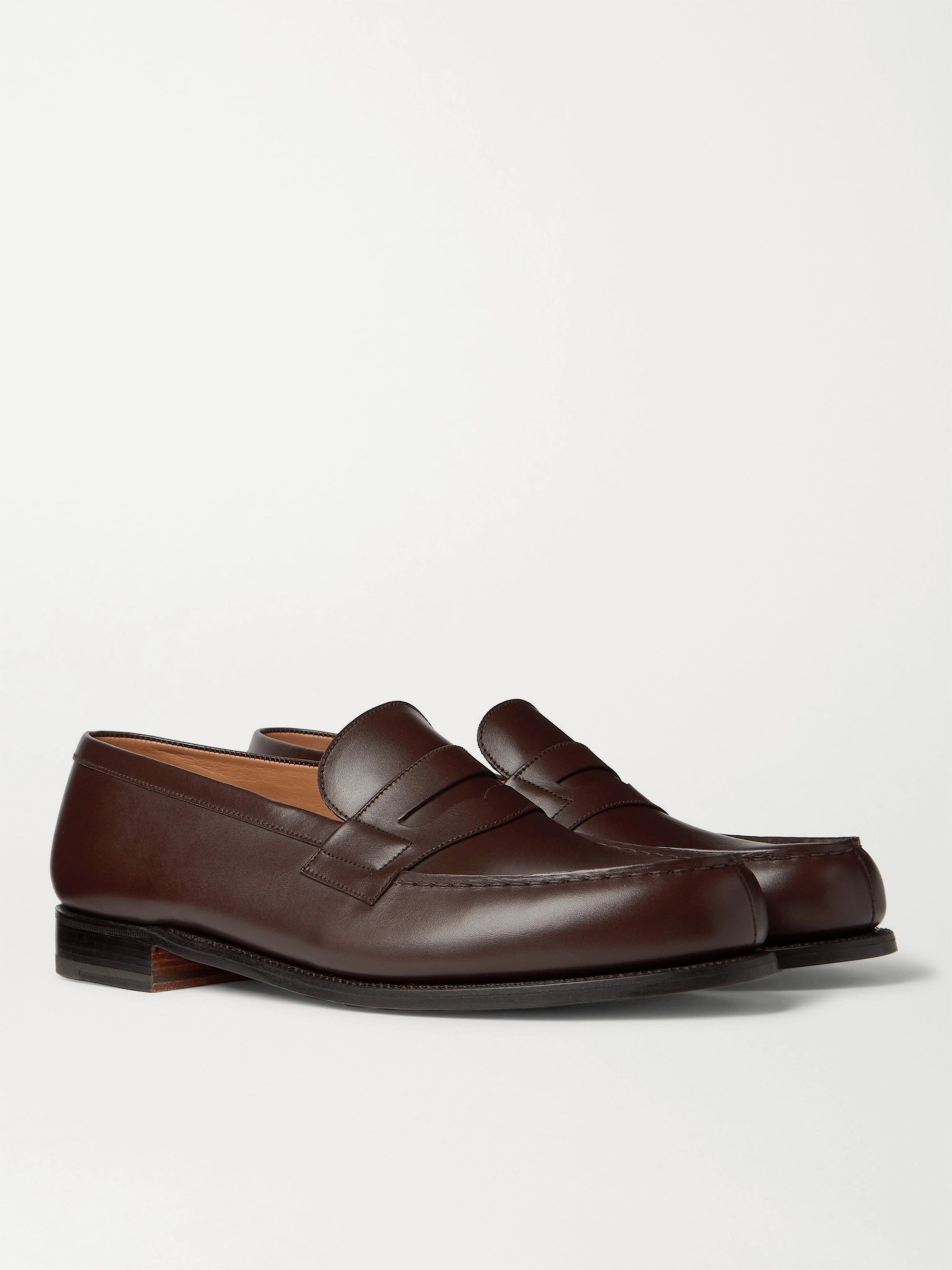 J.M. Weston 180 Moccasin Leather Loafers