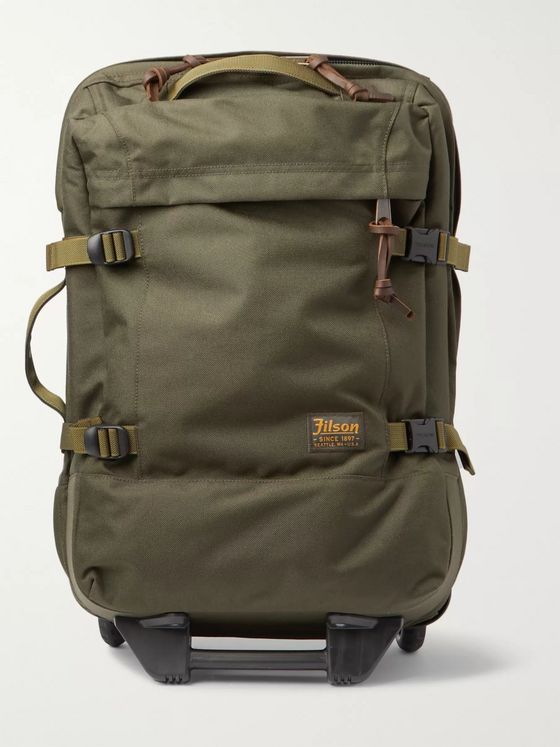 Filson Dryden 56cm Leather-Trimmed CORDURA Carry-On Suitcase