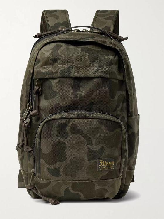 Filson Dryden Leather-Trimmed Camouflage-Print CORDURA Backpack