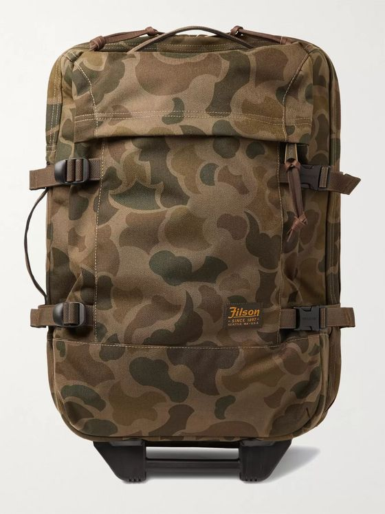 Filson Dryden Leather-Trimmed Camouflage-Print CORDURA Carry-On Suitcase