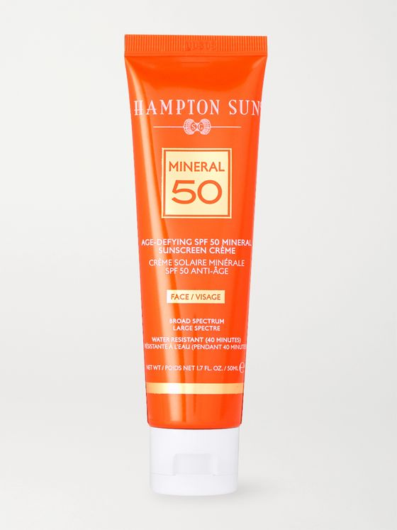 Hampton Sun Age-Defying SPF50 Mineral Crème Sunscreen for Face, 50ml