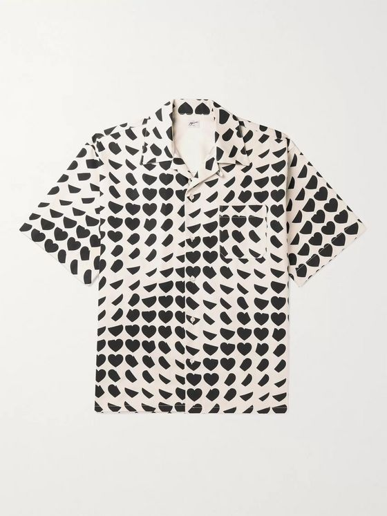 Marni Camp-Collar Printed Cotton Shirt