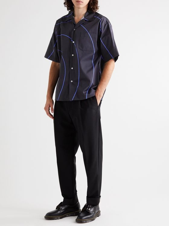 Marni Camp-Collar Printed Cotton-Poplin Shirt