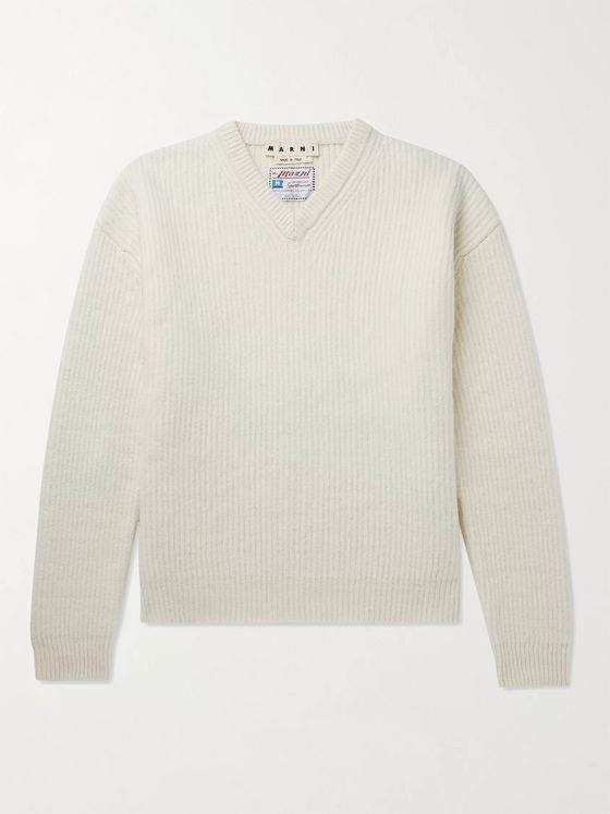 Marni Ribbed Virgin Wool Sweater