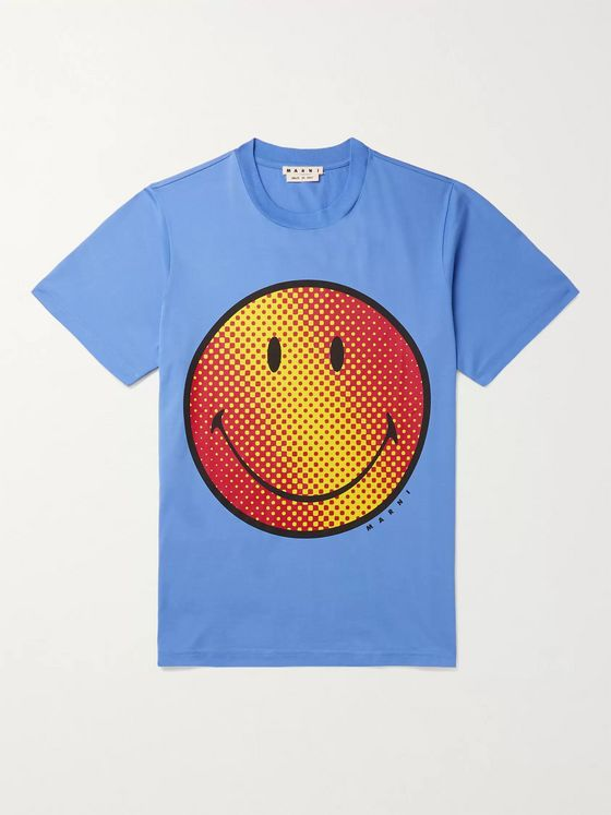 Marni + Smiley Printed Cotton-Jersey T-Shirt