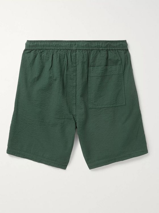 Alex Mill Cotton-Seersucker Drawstring Shorts