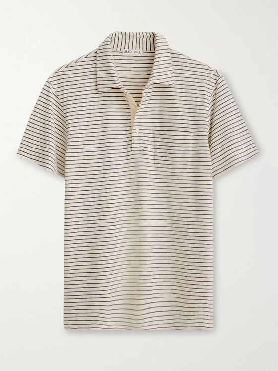 Alex Mill Slim-Fit Striped Cotton-Jersey Polo Shirt