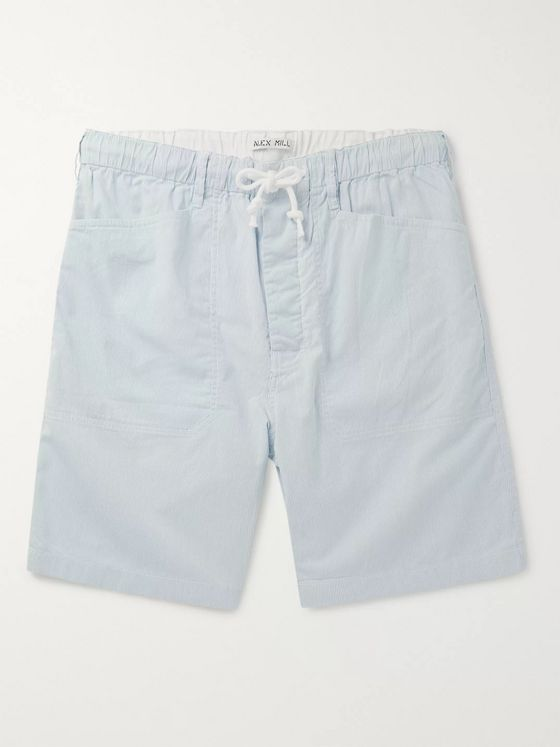 Alex Mill Striped Cotton-Blend Drawstring Shorts