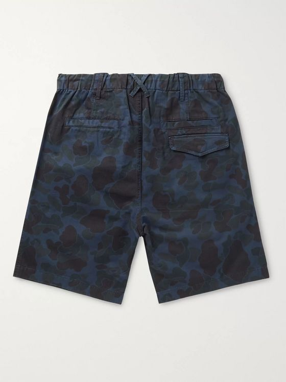 Alex Mill Camouflage-Print Herringbone Cotton Drawstring Shorts