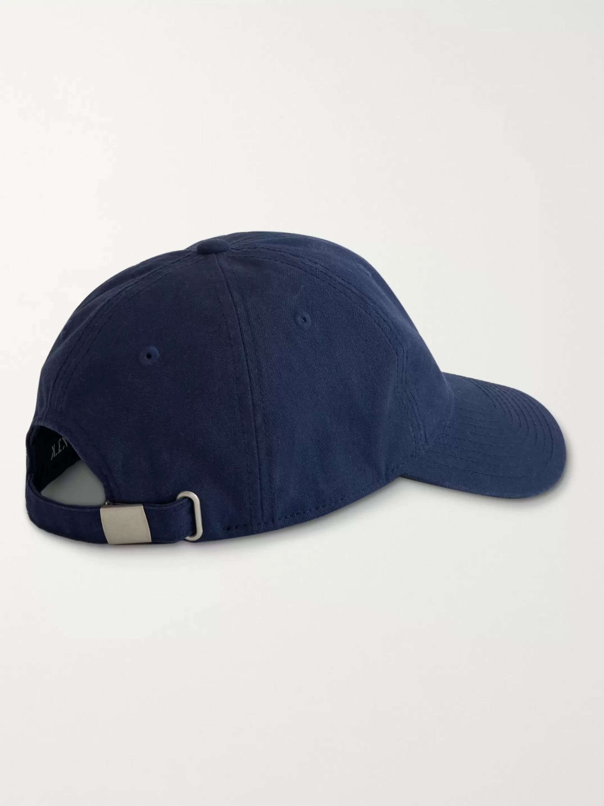 Alex Mill Embroidered Garment-Dyed Cotton-Canvas Baseball Cap