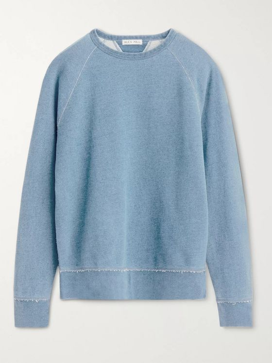 Alex Mill Indigo-Dyed Loopback Cotton-Jersey Sweatshirt