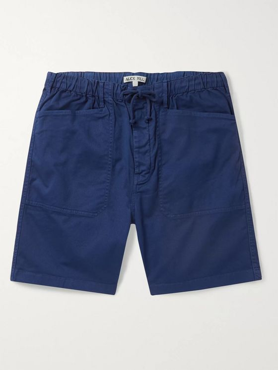 Alex Mill Stretch-Cotton Twill Drawstring Shorts