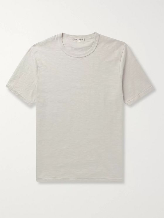 Alex Mill Standard Slim-Fit Slub Mélange Cotton-Jersey T-Shirt