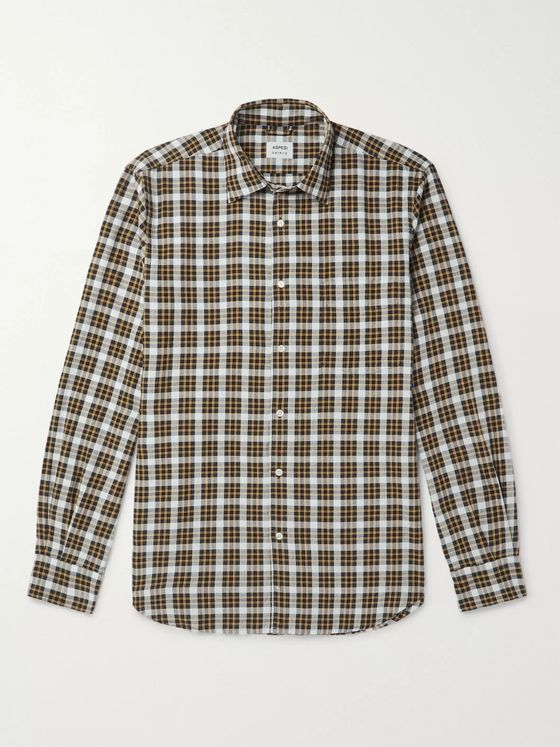 Aspesi Gingham Cotton Shirt