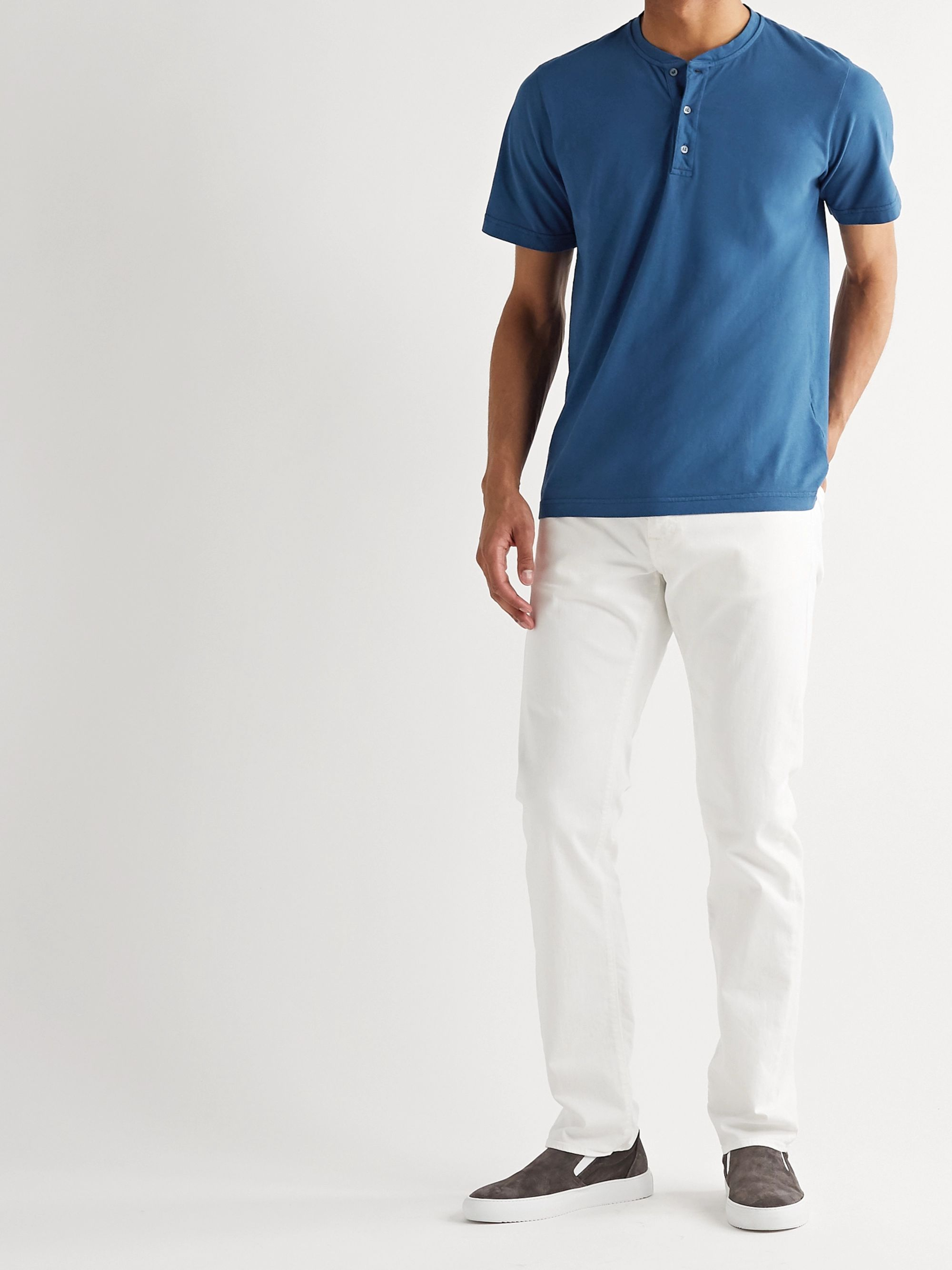 Aspesi Cotton-Jersey Henley T-Shirt