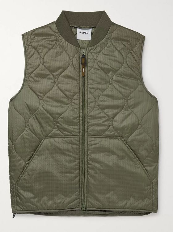 Aspesi Quilted Padded Ripstop Gilet