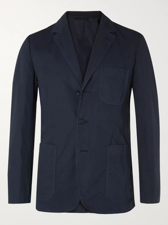Aspesi Samuraki Slim-Fit Unstructured Cotton Blazer