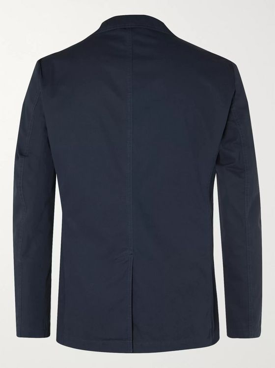 Aspesi Samuraki Slim-Fit Unstructured Cotton-Poplin Blazer