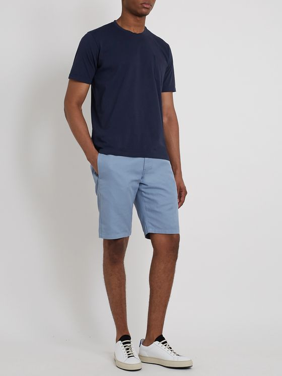 Aspesi Cotton and Linen-Blend Shorts
