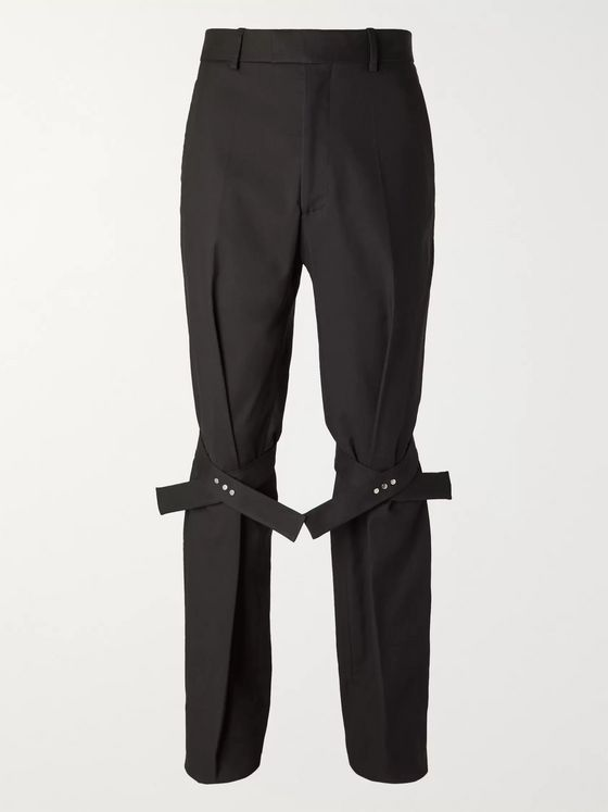 BOTTEGA VENETA Tie-Detailed Cotton-Blend Trousers