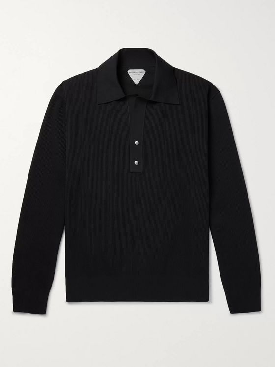BOTTEGA VENETA Tech-Piqué Polo Shirt