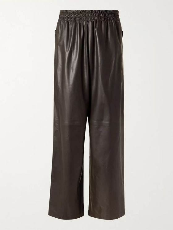 Bottega Veneta Wide-Leg Leather Trousers