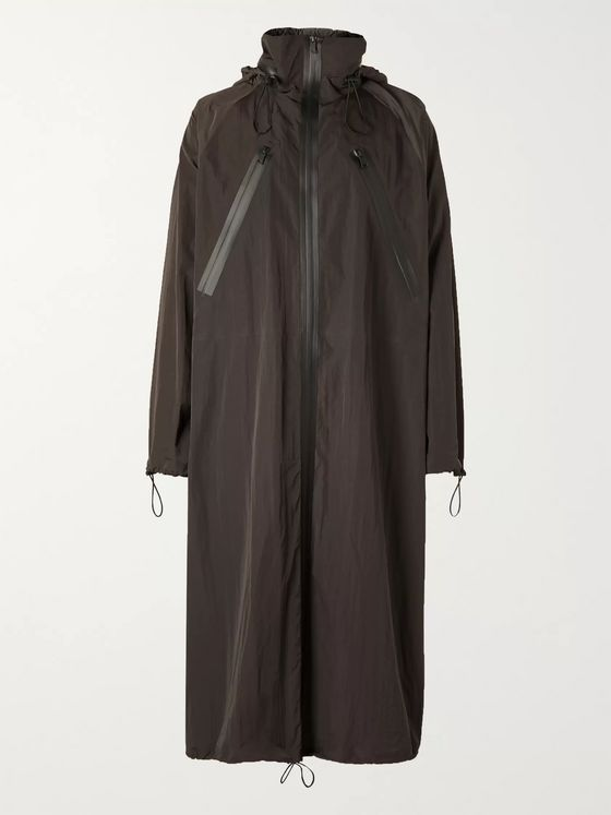 BOTTEGA VENETA Oversized Washed-Shell Hooded Raincoat