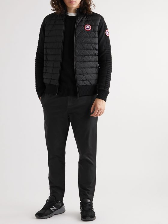 Canada Goose HyBridge Slim-Fit Merino Wool and Quilted Nylon Down Gilet