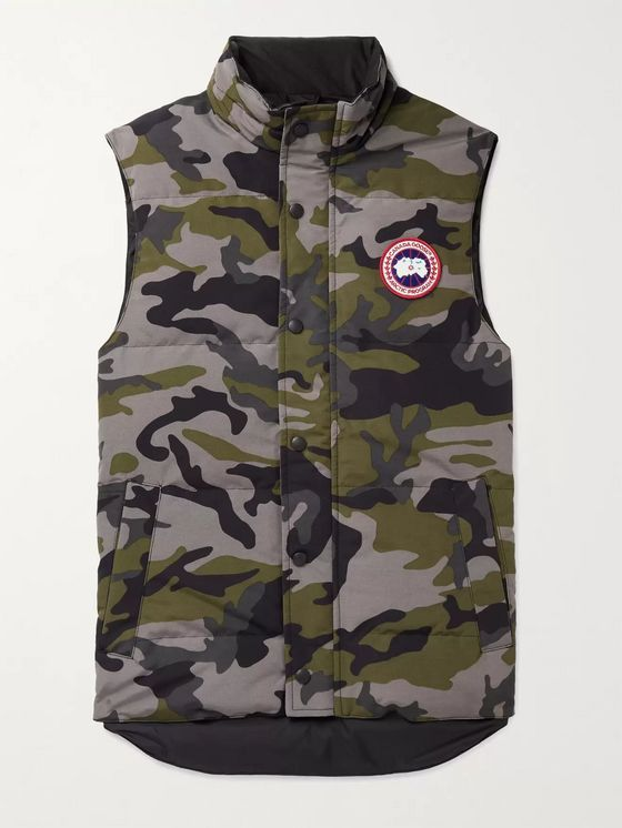 Canada Goose Garson Slim-Fit Camouflage Quilted Shell Down Gilet