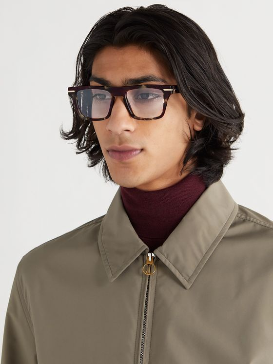 Cutler and Gross Square-Frame Tortoiseshell Acetate Optical Glasses