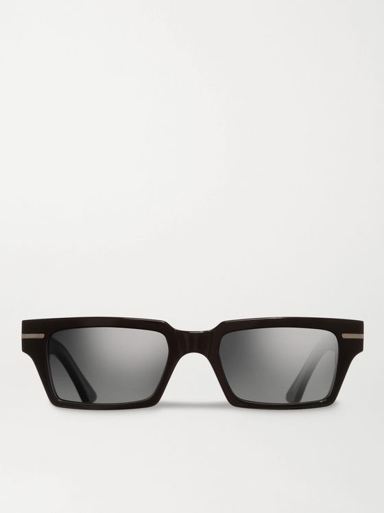Cutler and Gross Rectangular-Frame Acetate Sunglasses