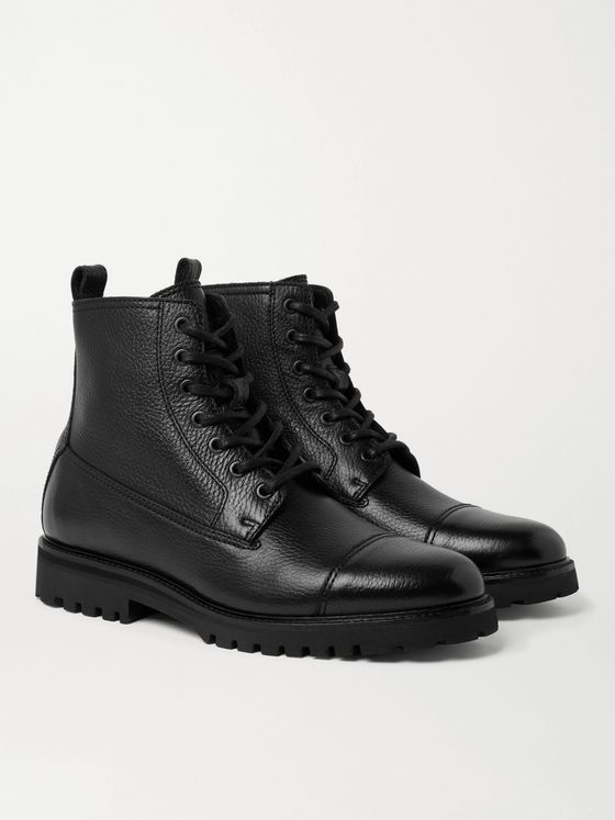Belstaff Alperton Full-Grain Leather Boots
