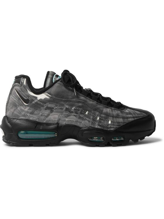 NIKE Air Max 95 DNA Panelled Leather, Mesh and Perspex Sneakers