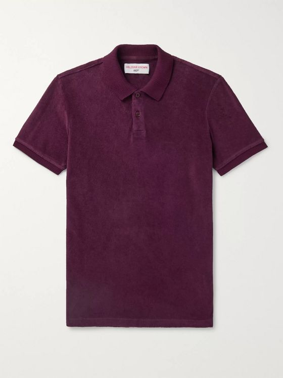 Orlebar Brown + 007 Ryder Cotton-Terry Polo Shirt