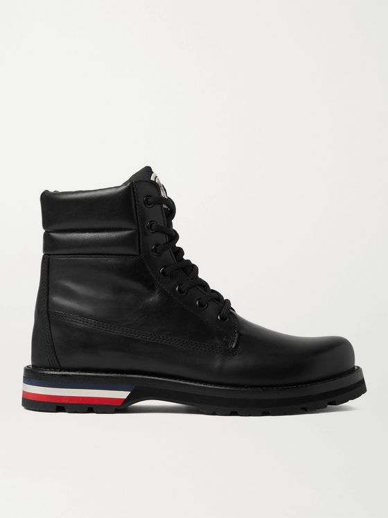 MONCLER Vancouver Striped Leather Hiking Boots