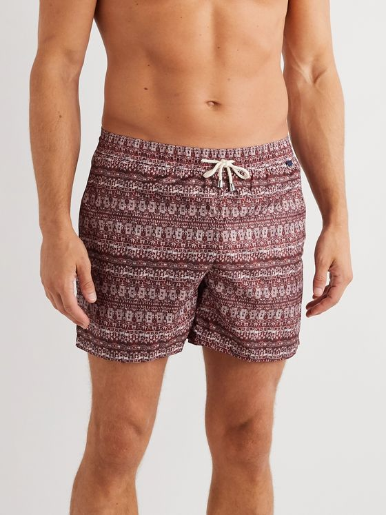 Rubinacci Mid-Length Printed Swim Shorts