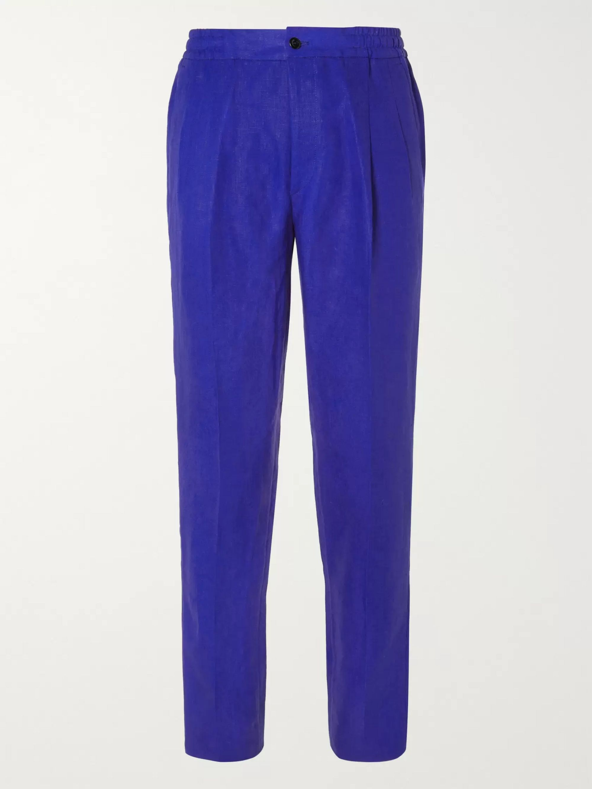 Rubinacci Slim-Fit Tapered Linen Trousers