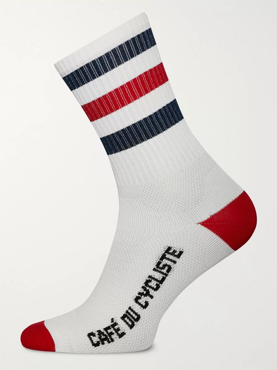 Cafe du Cycliste Striped Cycling Socks