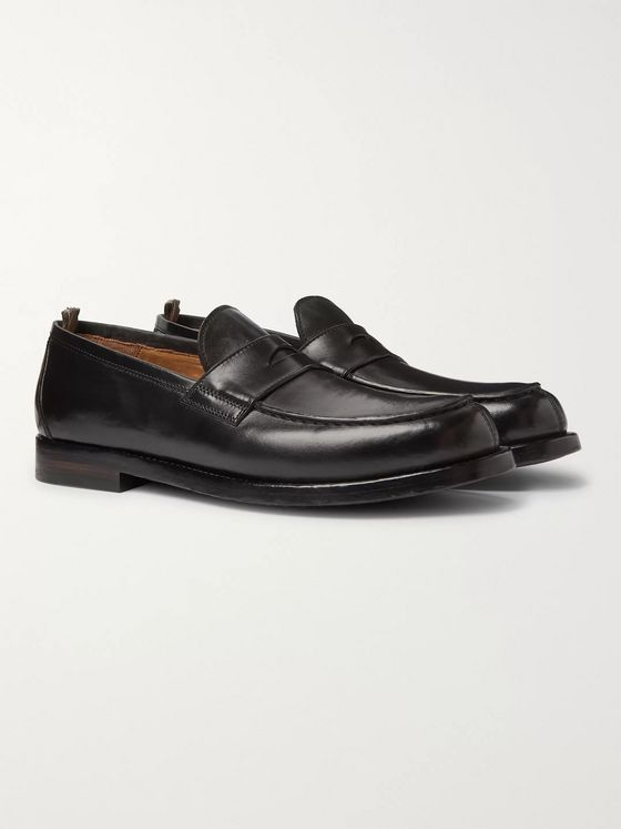 Officine Creative Vine Leather Penny Loafers