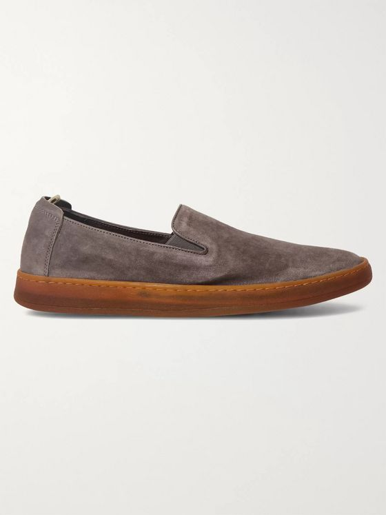 Officine Creative Key Suede Slip-On Sneakers
