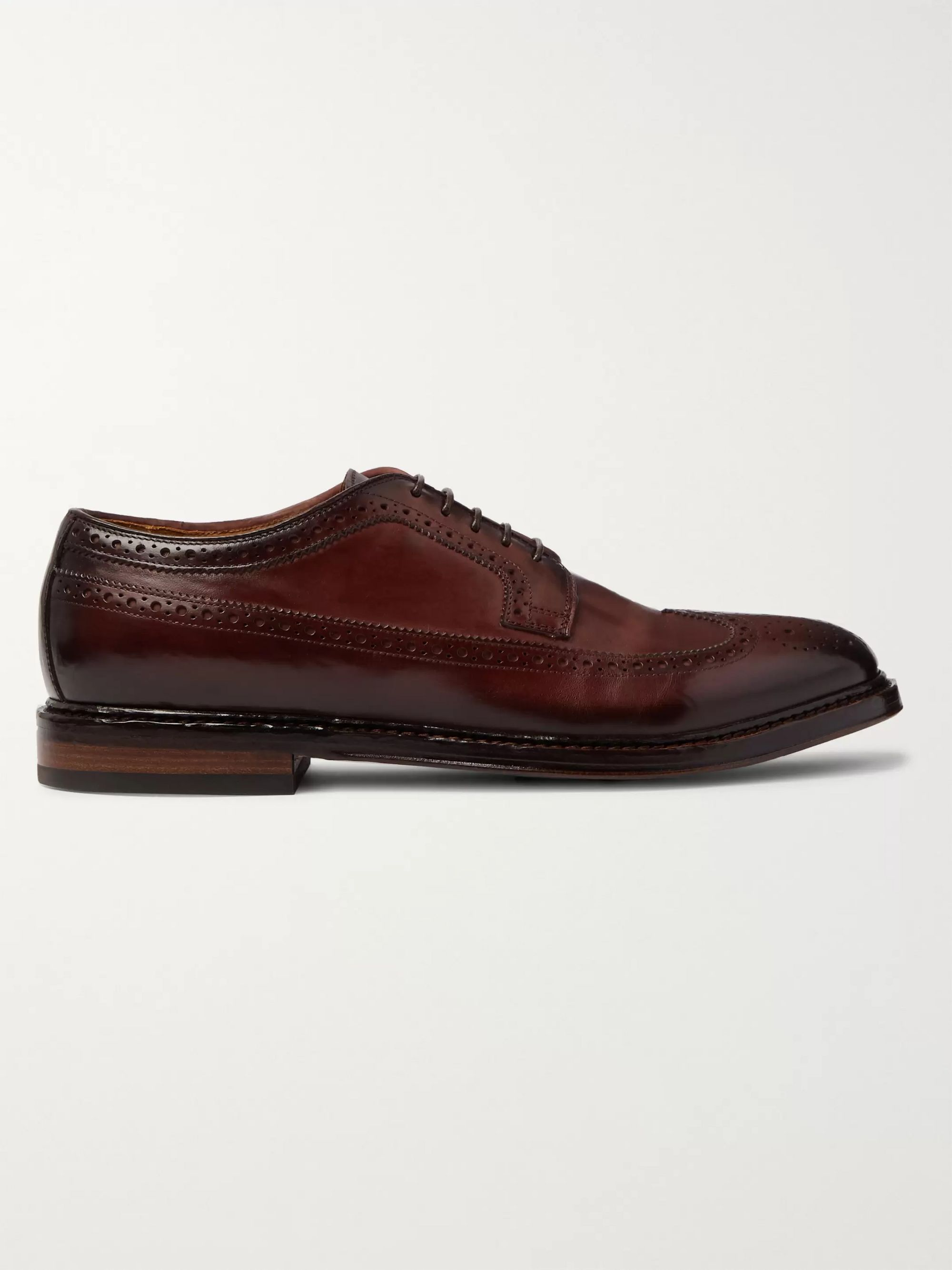 Officine Creative Hopkins Burnished-Leather Brogues