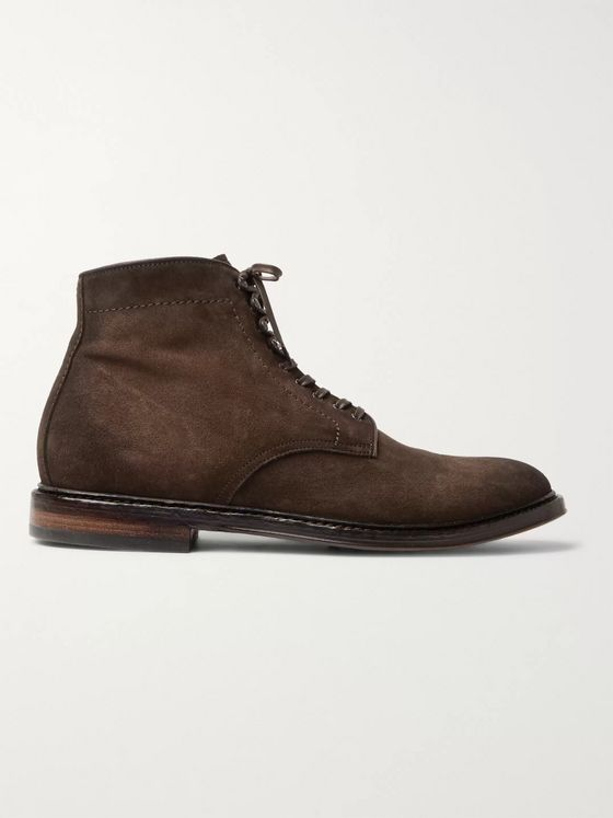 Officine Creative Hopkins Burnished-Suede Boots