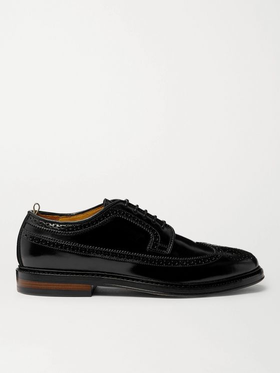 OFFICINE CREATIVE Hopkins Cordovan Leather Longwing Brogues