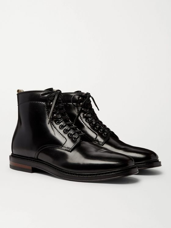 OFFICINE CREATIVE Hopkins Cordovan Leather Boots