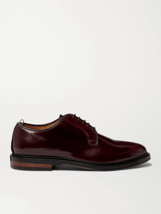 OFFICINE CREATIVE Hopkins Cordovan Leather Derby Shoes