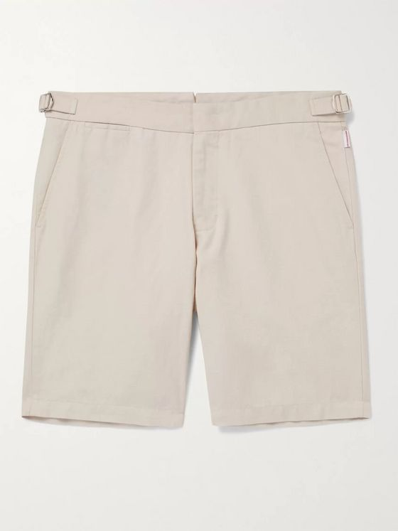 ORLEBAR BROWN + IWC Schaffhausen Norwich Cotton and Linen-Blend Chino Shorts
