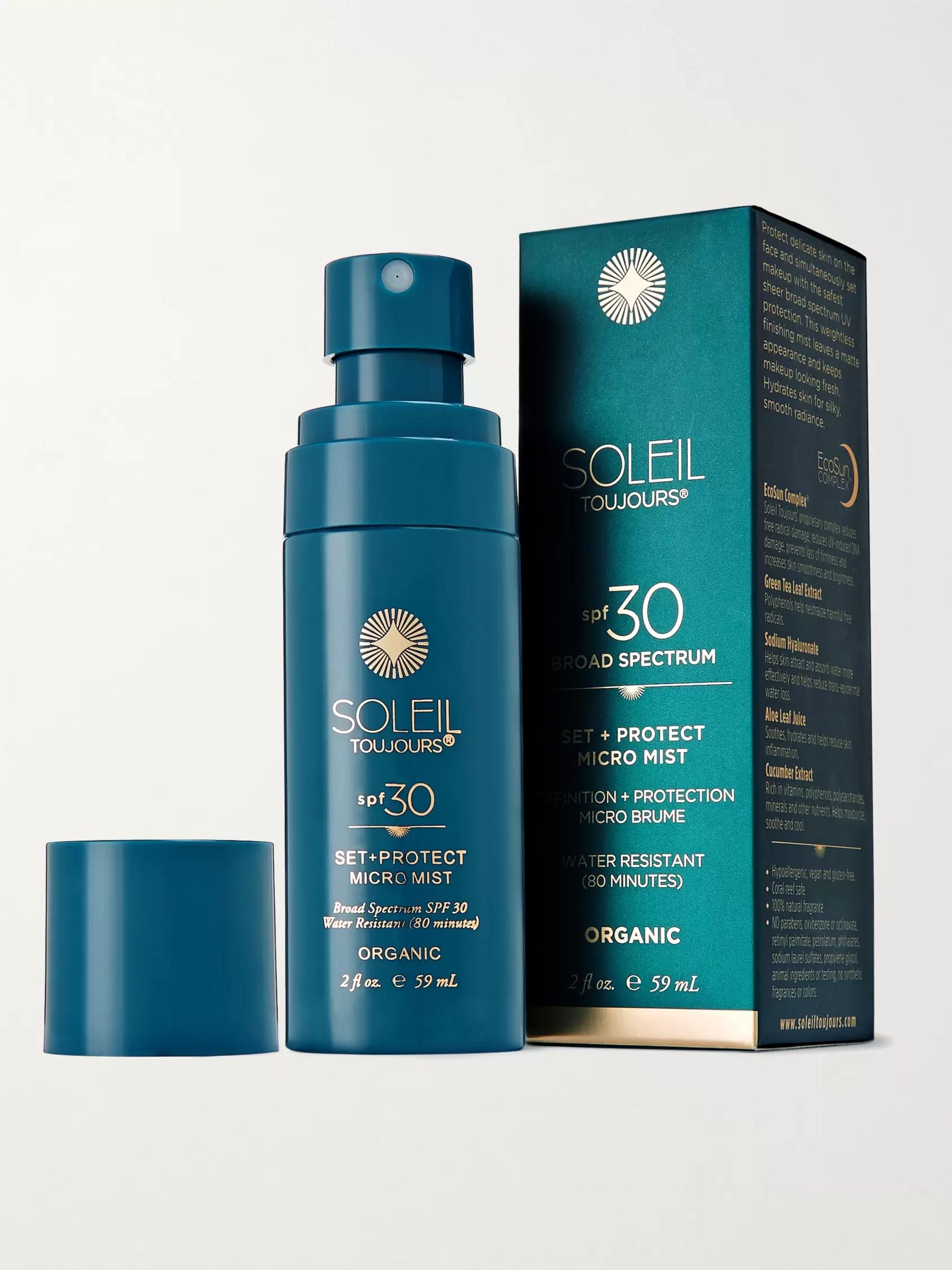Soleil Toujours Organic Set + Protect Micro Mist SPF30, 59ml