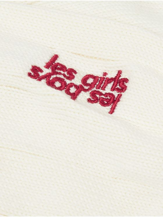 Les Girls Les Boys Logo-Embroidered Striped Cotton Socks