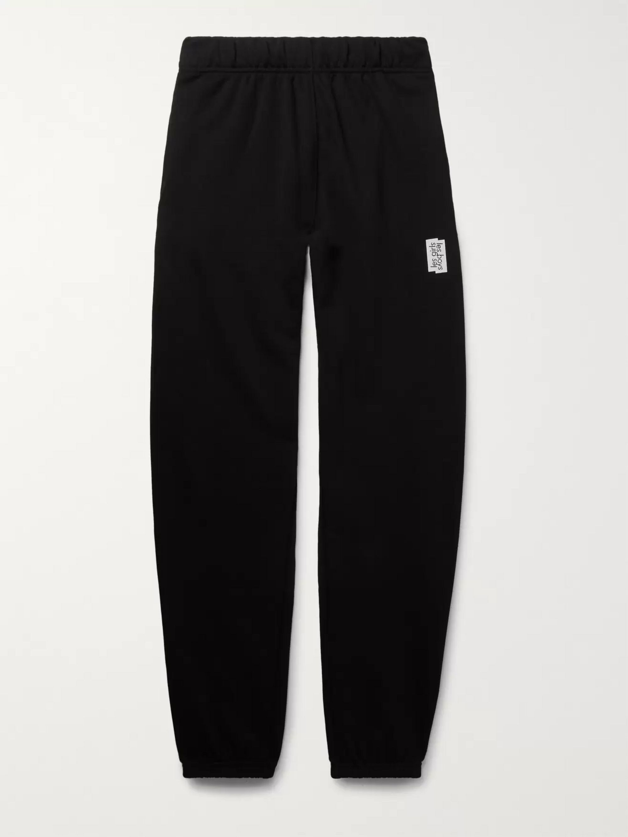 Tapered Loopback Stretch Cotton Jersey Sweatpants by Les Girls Les Boys